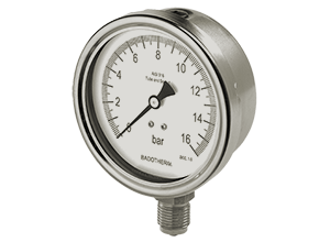 Badotherm Stainless Steel Safety Pressure Gauges